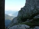 Ausblick von der Hütte ins Almtal