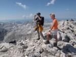 Gabi und ich am Gipfel