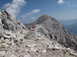 Der lange Grat zum Gipfel