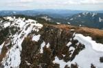 Die steile Nordflanke des Turntaler Kogels, im Hintergrund Stuhleck