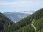Blick über den Krummbachsattel zur Rax