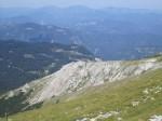 Blick über den Schauerstein (Felsen im Vordergrund) nach Nordwesten