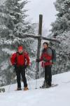Günter und ich beim Kreuz