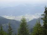 Tiefblick auf Krieglach und Freßnitz (Mürztal)