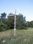Kreuz unterhalb der Hütte