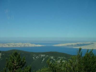 Ausblick aufs Meer und die Insel Krk