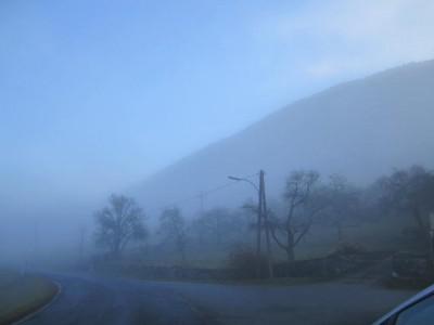 Fast aus dem Nebel heraussen (Startplatz)
